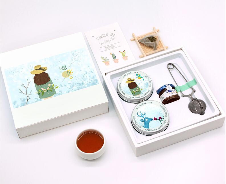 柠檬薄荷花茶礼盒,送女友下午茶礼物