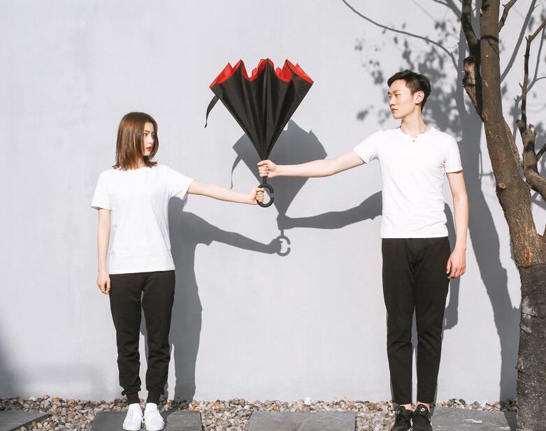 网易云音乐经典红双人长柄雨伞,送女生实用礼物