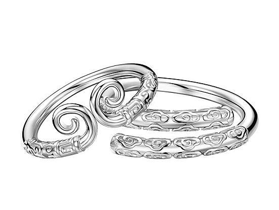 送女朋友刻字礼物,紧箍咒情侣一对戒指