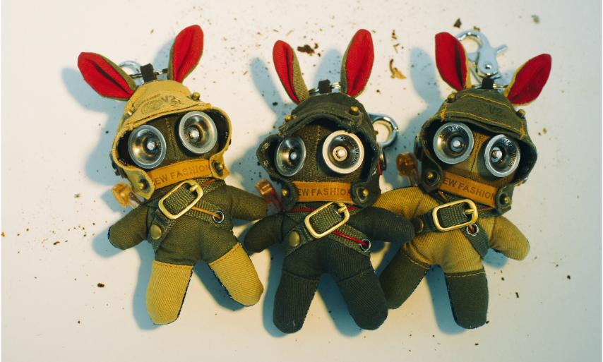 蒸汽精灵军装兔子钥匙扣,送男朋友创意个性礼物