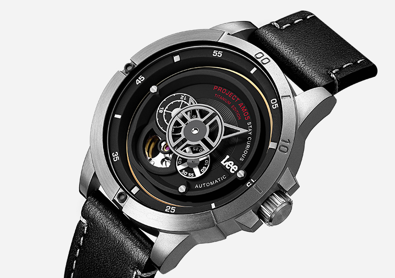 Lee手表钛金属全自动机械表,老公圣诞节礼物