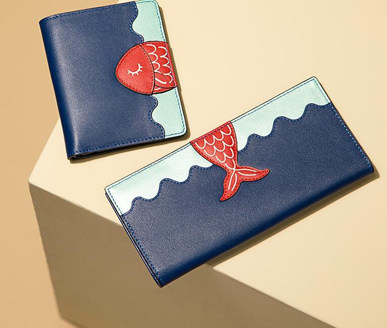 半坡真皮小众设计师钱包,送女友新年礼物