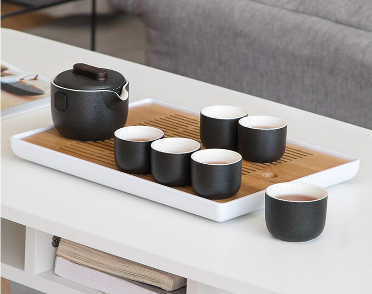 南山先生简逸茶具套装,日式粗陶茶壶