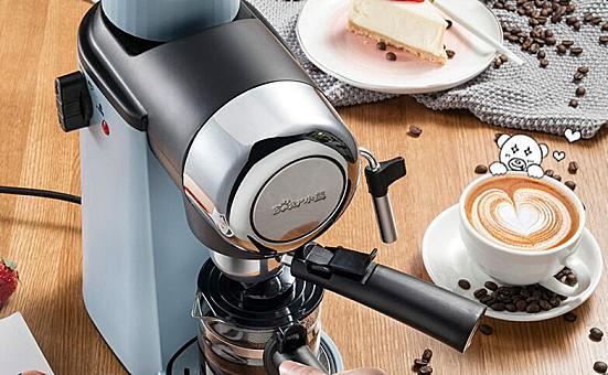 小熊 KFJ-A02N1咖啡机,半自动迷你蒸汽式打奶泡