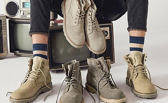 Semir森马中性高帮马丁靴,牛皮鞋面+猪皮鞋垫