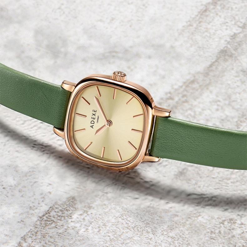 ADEXE简约气质轻奢风手表,送女朋友森系复古生日礼物